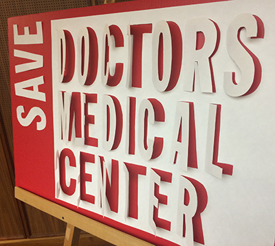 Save Doctors sign