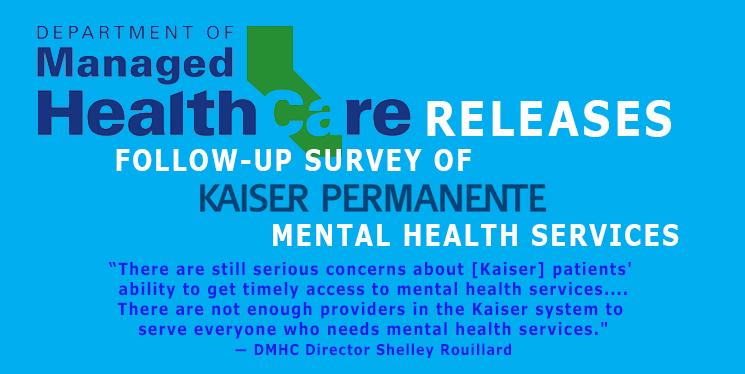DMHC survey Kaiser mental health