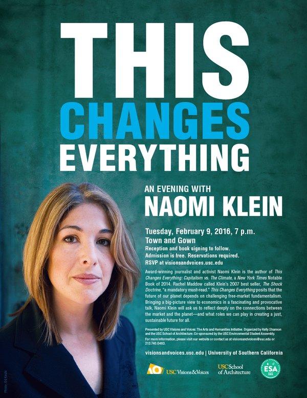 Naomi Klein at USC