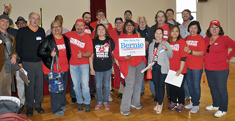 Labor for Bernie rally
