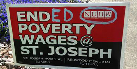 Ended Poverty Wages at St. Joseph