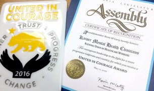 United in Courage award BLG