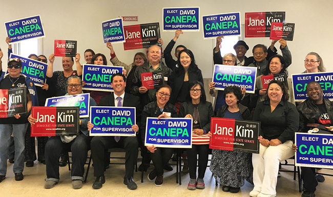 Daly City Vice-Mayor Dave Canepa and San Francisco Supervisor Jane Kim supported our members at a community town hall for Seton Medical Center and Seton Coastside.