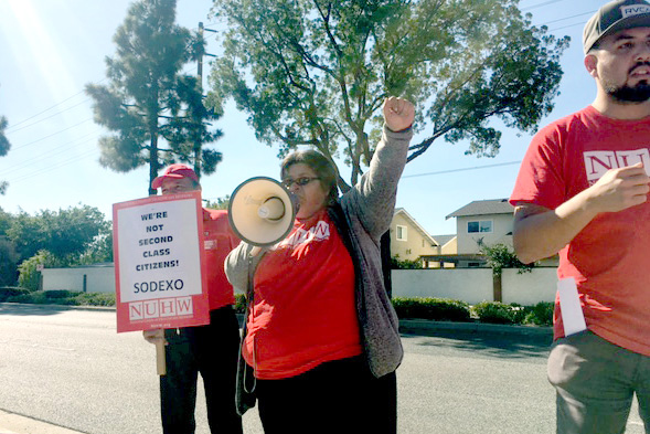 20180201 Fountain Valley Sodexo strike 20