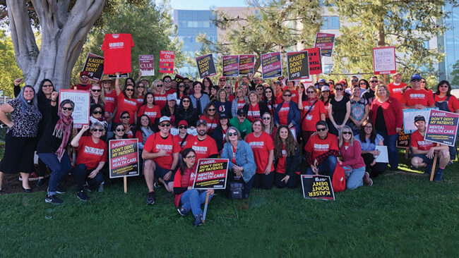 Kaiser Mental Health Strike Day 4